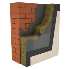 Krohvitav kivivillaplaat Izovat 100 (30 kPa) (20,30,50,100,150,200mm)
